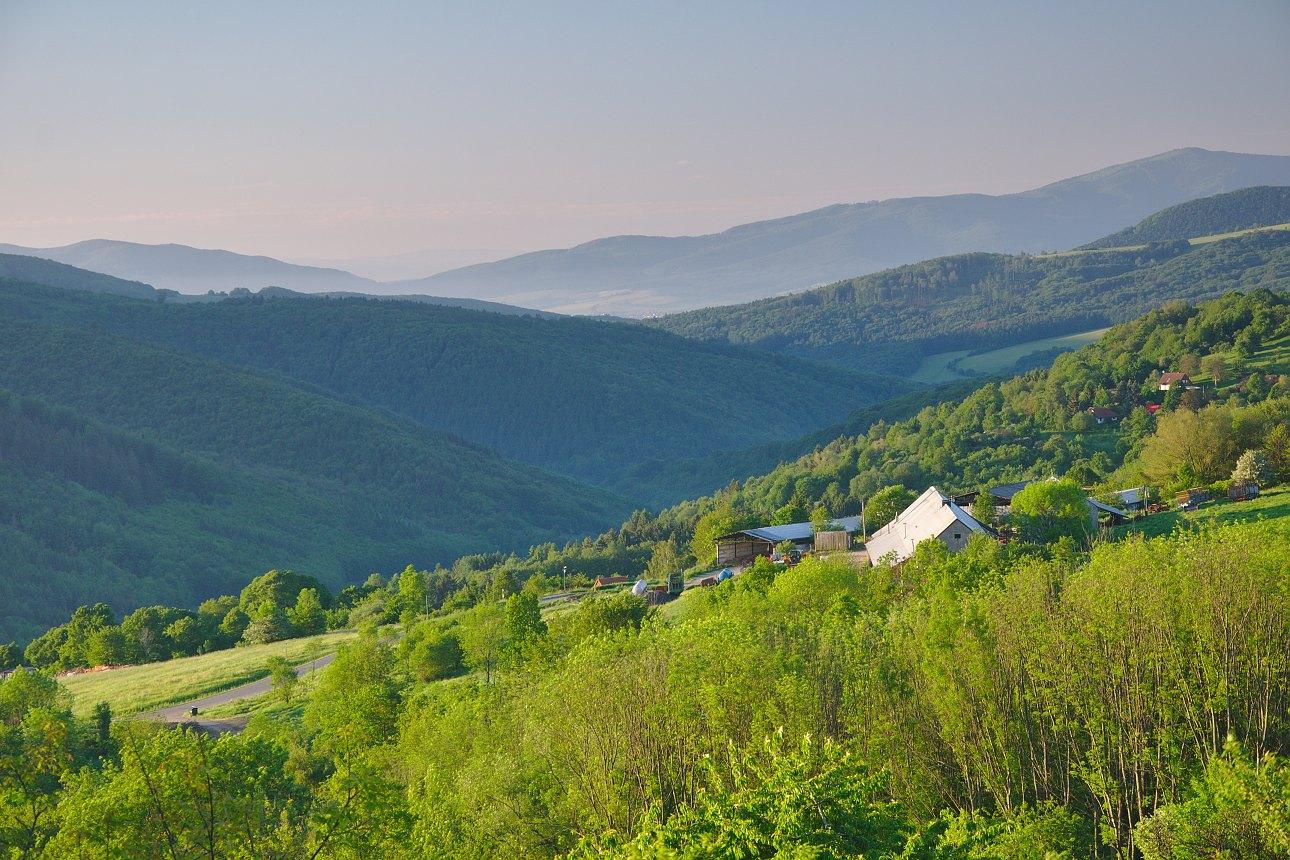 obec Žítková, panorama