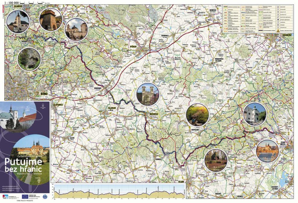 Ukázka Vranov-Velehrad, mapový průvodce