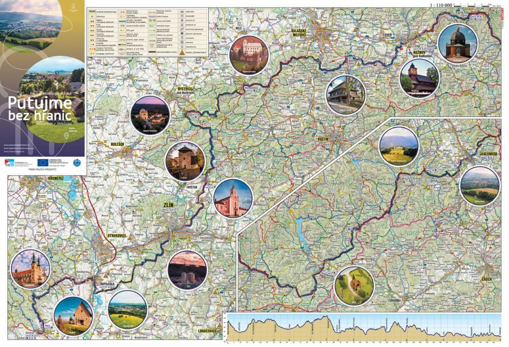 Mapový průvodce Jablunkov - Velehrad, Cyrilometodějská stezka